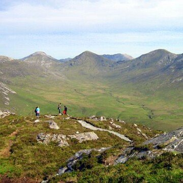 The peaks of the Twelve Bens in Connemara National Park County Galway Ireland