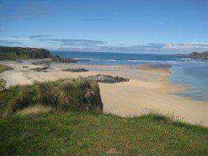 A sandy beach on the Atlantic ocean on Doagh Island County Donegal