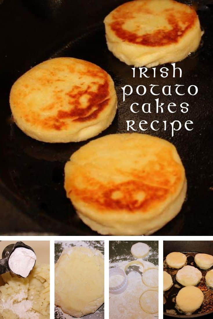 Photo tutorial graphic for making Irish potato cakes