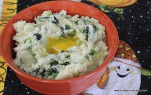 Colcannon with melting butter.
