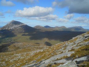 The Seven peaks of the Seven Sisters Mountains in County Donegal Ireland