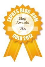 Gold Expats blog award logo for 2012