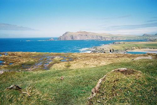The Irish coastline at Slea Head County Donegal Ireland