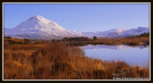 Winter scene in the mountains of County Donegal