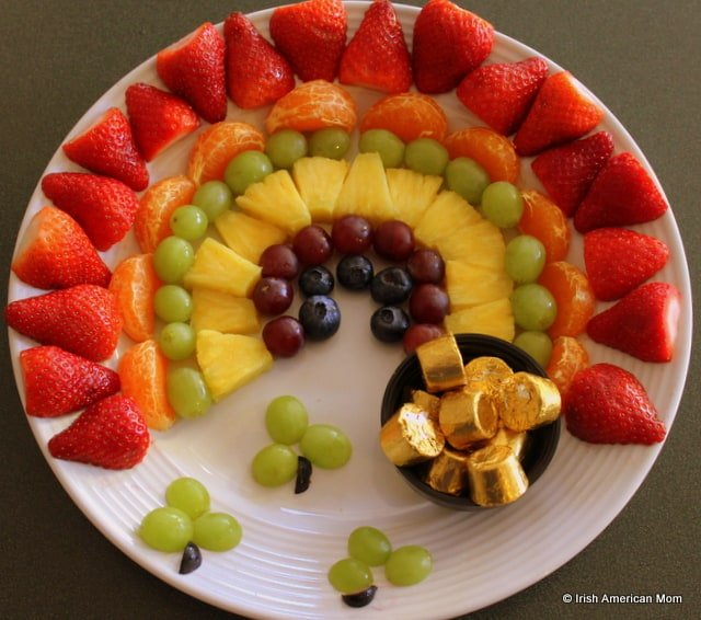 Fruit Rainbow With Pot Of Gold