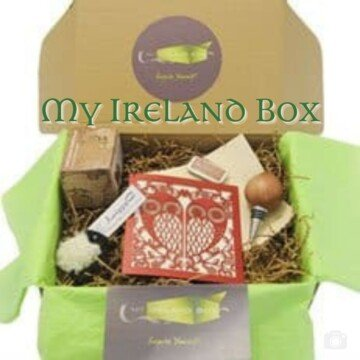 Craft gift box with text overlay