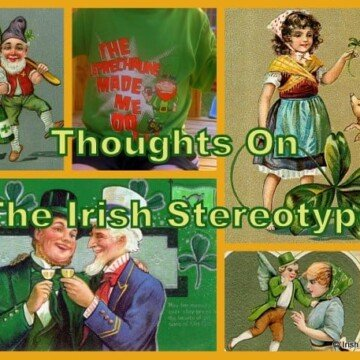 Collage of Irish American images