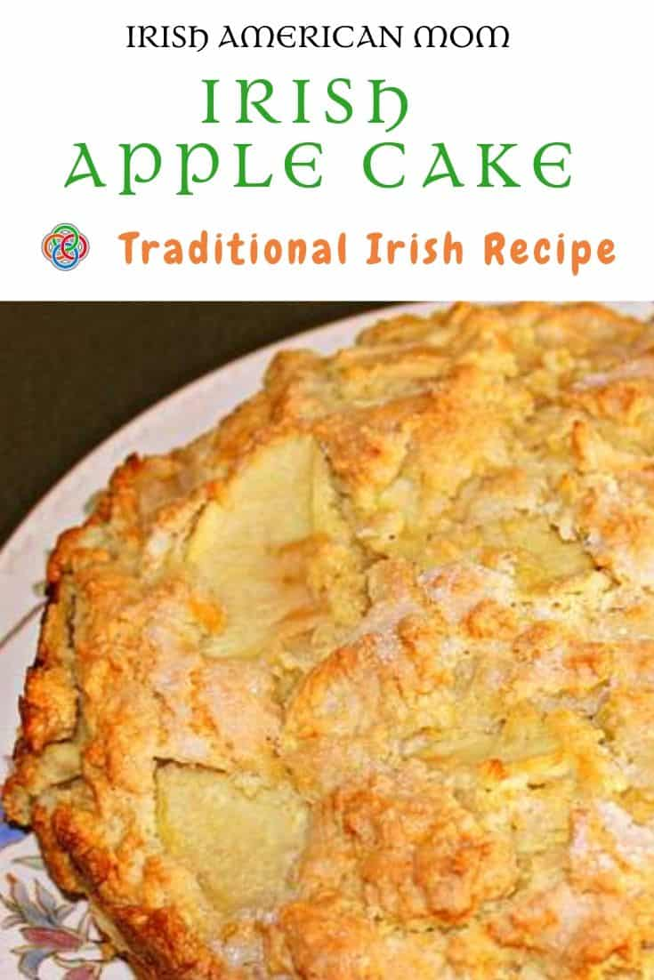 Irish apple cake is also known as Kerry apple cake and is a traditional Irish cake or rustic apple bread.