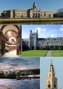 Shandon Tower, City Hall and UCC in a collage