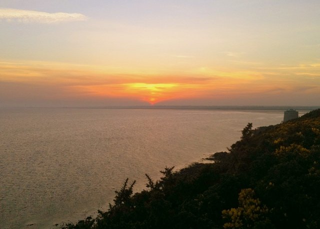 Sunset over the Irish sea as seen from Howth