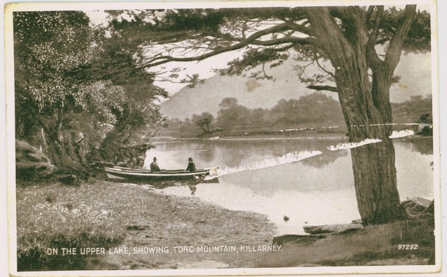 Late 19th Century Postcard Of The Lakes Of Killarney