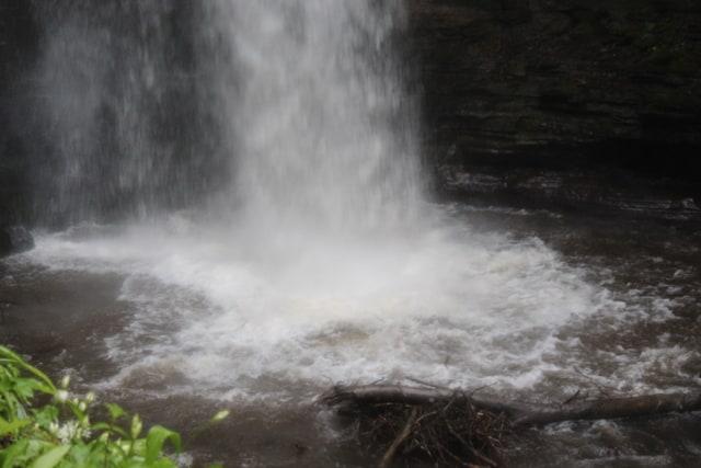 Plunge pool of Glencar Waterfall