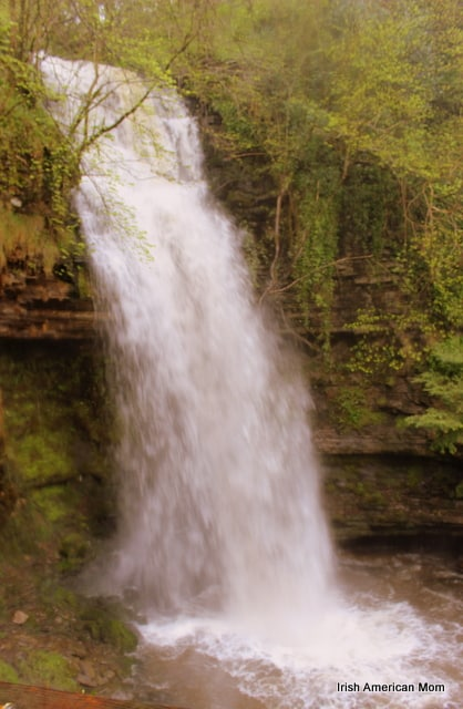 Side View Of Glencar Waterfall, Co. Leitrim