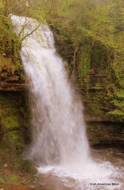 Side View Of Glencar Waterfall, Co. Leitrim