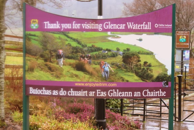 Goodbye Sign At Glencar Waterfall