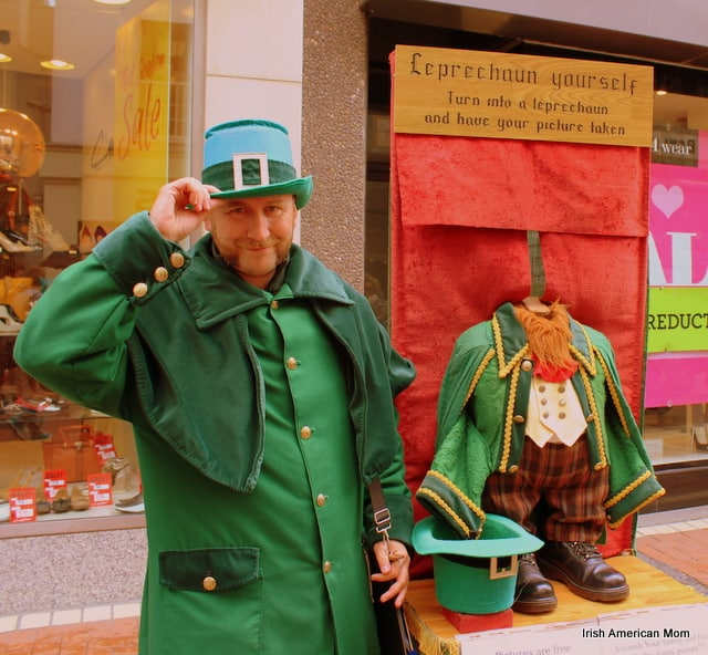 Leprechan On Grafton Street, Dublin