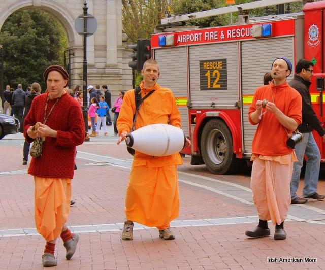 Hare Krishna Dancers In Dublin