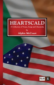 Heartscald book cover with Irish and American flag