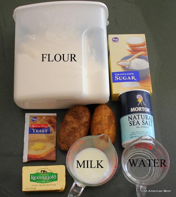 Ingredients for Potato Bread