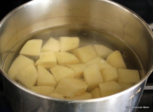 Boiling Potatoes for Potato Bread