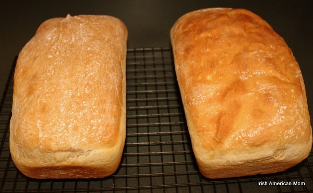 Potato Bread Cooling On Wire Rack