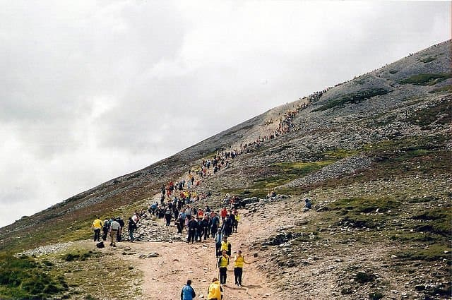 Reek Sunday Pilgrimage Croagh Patrick - © Copyright Alan James and licensed for reuse under this Creative Commons License.