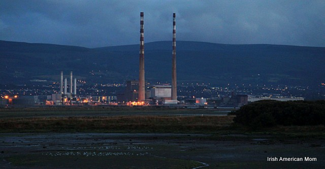 The Dublin Smokestacks by Moonlight