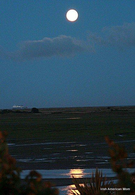 A Full Moon Over Dublin Bay