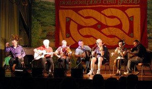 Irish traditional music being played on stage