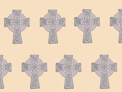 Celtic Cross Fabric