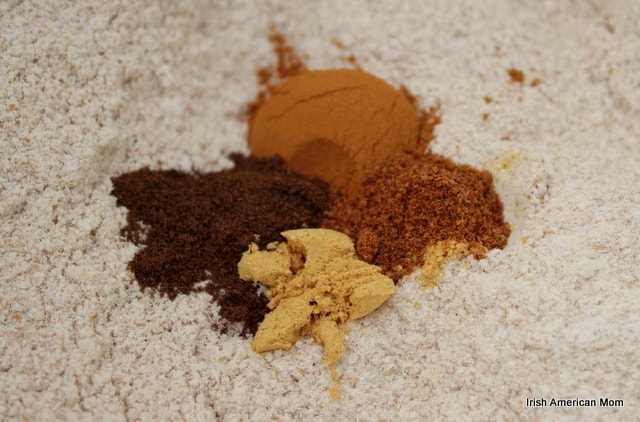 Spices for whole wheat pumpkin pancakes