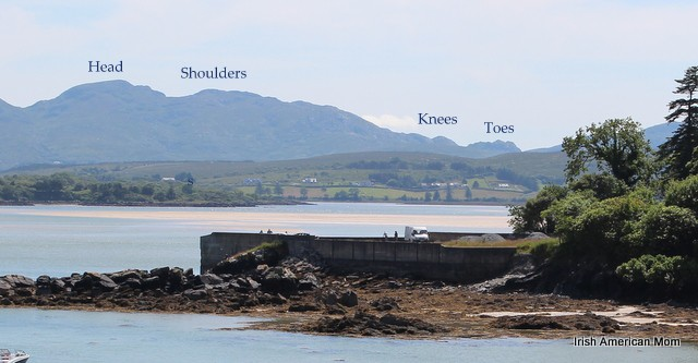The Sleeping Man Mountain, from Ards Friary, Co. Donegal, Ireland