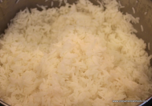 Boiled basmati rice