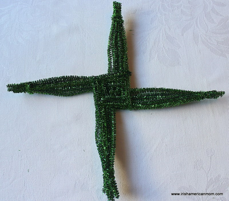 Chenille Stem St. Brigid's Cross