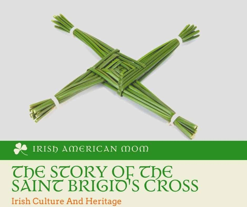 A cross made of green reeds on a graphic with text