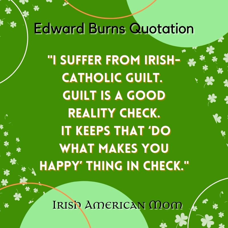 Text on a graphic with green bubbles and shamrocks