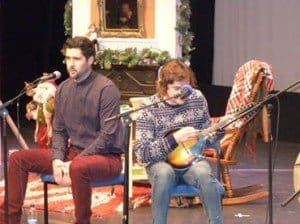 Irish musician Sean Feeney on stage