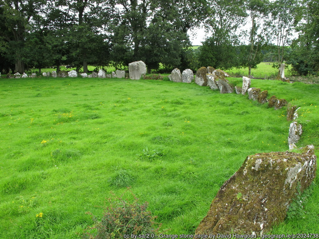 Standing stones in a field