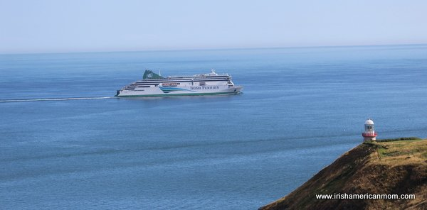 Irish Ferries By The Bailey Lighthouse