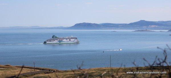 Ferry In Dublin Bay