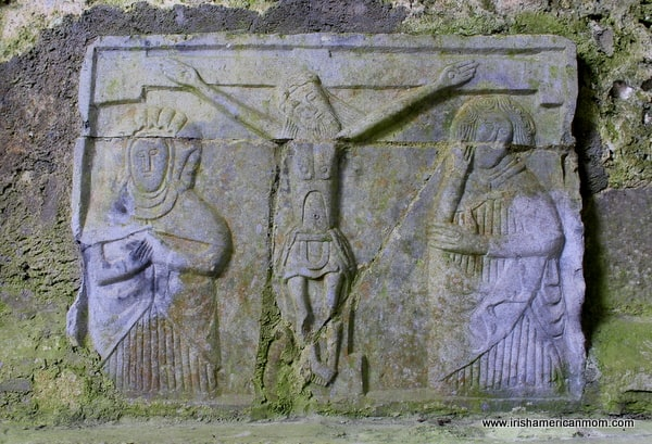 Crucifixion Carving at Cashel, Ireland