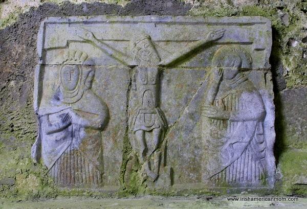 Crucifixion Carving at Cashel, Ireland