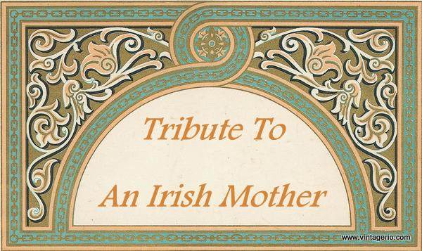 Tribute to an Irish Mother