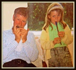 Deborah Playing Traditional Irish Music With Her Father