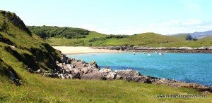 Sandy beach near Ards Friary in County Donegal