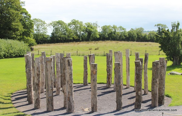 Circular stone memorial at Knowth - a mini Stonehenge