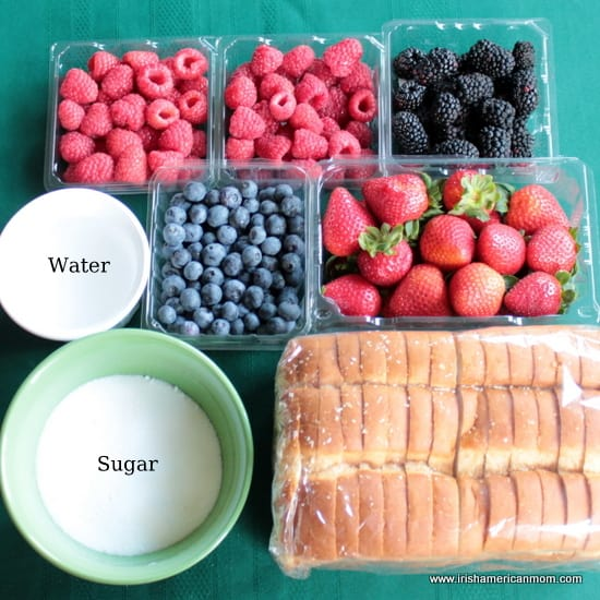 Ingredients for Summer Pudding