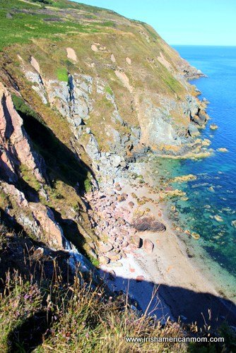 Looking Down At the Cove Below 199 Steps in Howth