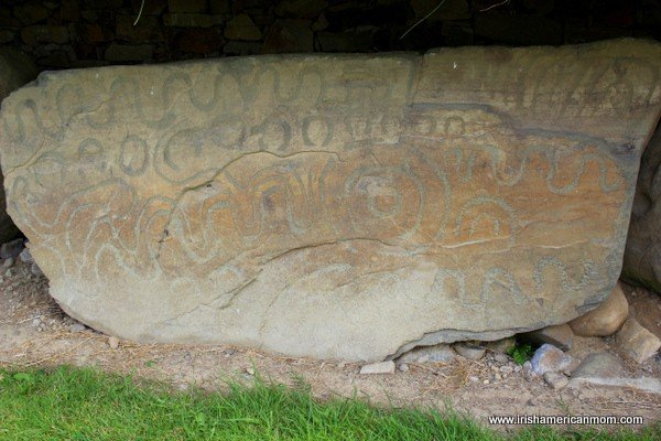 Ogham Writing on a Stone at Knowth