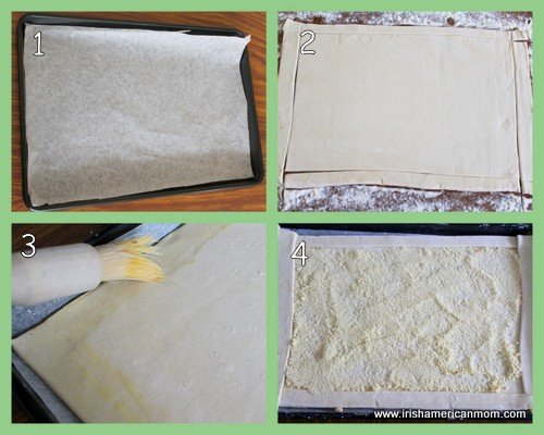 Preparing crust for fruit galette
